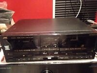 JVC TD-W700 Stereo Twin Cassette Tape Deck Player Recorder