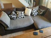 L-Shaped couch and swivel chair *OFFERS ON PRICE WELCOME*