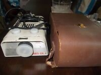 noris slide projector with case