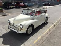 Beautiful Morris Minor Convertible - Garage stored - 12m MOT - great condition - Old Eng Cream + oxb