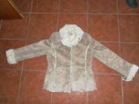 Ladies faux Sheepkin jacket. Wallis size 12. Excellent condition