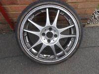 "vw 4 stud 17"" alloys with tyres"