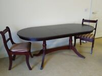 Dining Table & 2 chairs Extendable