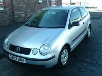2003 03 VOLKSWAGEN POLO 1.2 E 3DR ** ONLY 42400 MILES ** FULL SERVICE HISTORY **