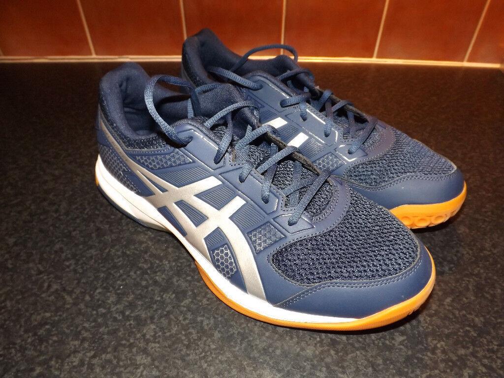 buy popular c2f24 1ebb0 ASICS Gel Rocket 8 Badminton and Squash Shoes - Blue. UK Size 10.