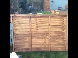3 6x4ft fence panels
