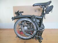 New & Unused Black Limited Edition S6L Brompton Folding Bike With A Host Of High End Accessories
