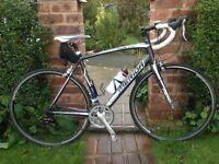 merida ride lite 91 road racer,m/large frame,carbon forks,sora groupset gears/shifters/crank