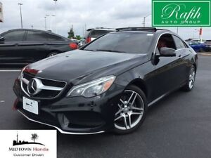 2015 Mercedes-Benz E-Class 4matic Coupe-Red leather initerior