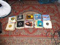 box of 45rpm single records
