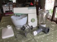 Kenwood chief mixer with liquidiser and mincer