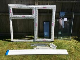 Double Glazed UPVC Window unit. 136.5 x 113 cm. unused