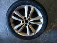Jaguar alloy wheel with new tyre