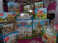 Sylvanian Families mostly boxed. Great value collection 12