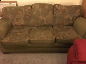 3 Seater Sofa & chair with cushions
