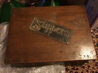 Wooden Slipper / shoe box
