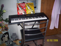 Casio CTK-3000 keyboard,stand,carrycase,high chair,headphones & mic