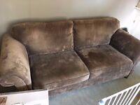 3 Seater Mink/Grey Sofa - BARGAIN! Needs collecting ASAP