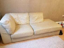 Cream Leather Couch x 2