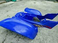 Yamaha Raptor 660 rear plastics back mudguards fenders blue