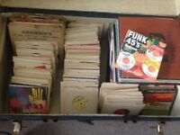 Huge vinyl collection. Lots of old 45s, LPs and some modern stuff. Plus FREE turntable!!!
