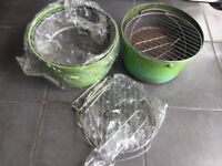 Green bucket bbq barbecue outdoor cooking portable new plus spares