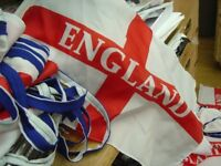England bunting footballs coming home england bunting top quality fabric large flags