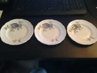 Vintage Regency English Bone China Tea Plates 15.5cm Dia