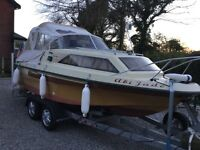 18ft Shetland Family Four Boat with Backton Trailer