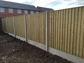 🌳STRAIGHT TOP CLOSE BOARD TANALISED WOODEN FENCE PANELS ~ HEAVY DUTY