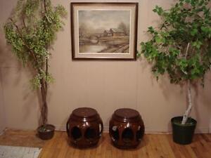 Solid Rosewood Barrel Tables