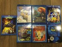 7 CHILDRENS BLU RAY DISCS HARDLY USED