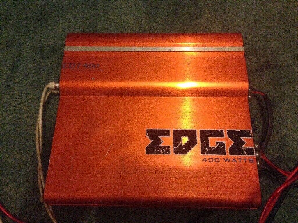 Edge 900watt sub and edge ED7 400 amp