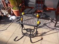 Halfords 4x4 spare wheel cycle carrier holds 2 bikes