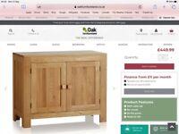 Oak furniture land sideboard, coffee table & 2 side tables