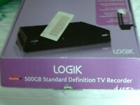 Logik Freeview + 500GB standard definition tv recorder