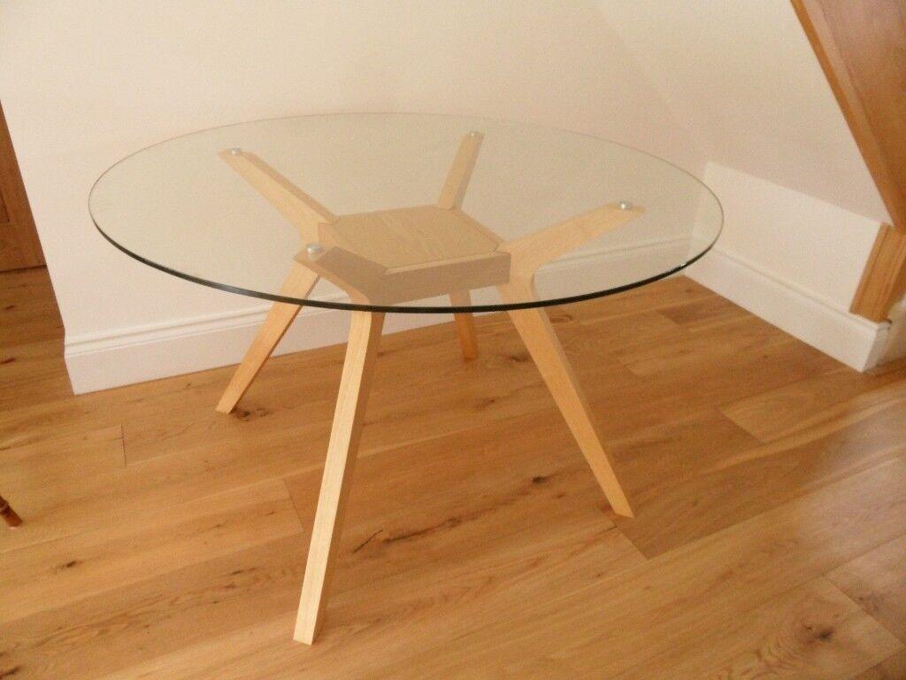3d0ed514e79 a john lewis akemi round four seater glass   ash dining table