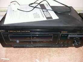Teac double cassette deck w-600r