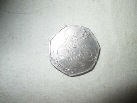 50p - 50 pence olynpic weightlifting 2011 coin