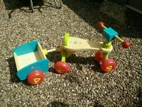 Toddler tricycle and trailer