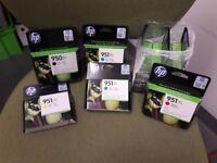 hp laserjet printer ink cartridges. Set of 9. Black & colours. 950/951 xl