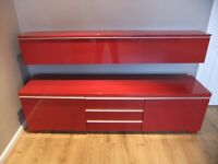 Ikea TV stand and wall unit