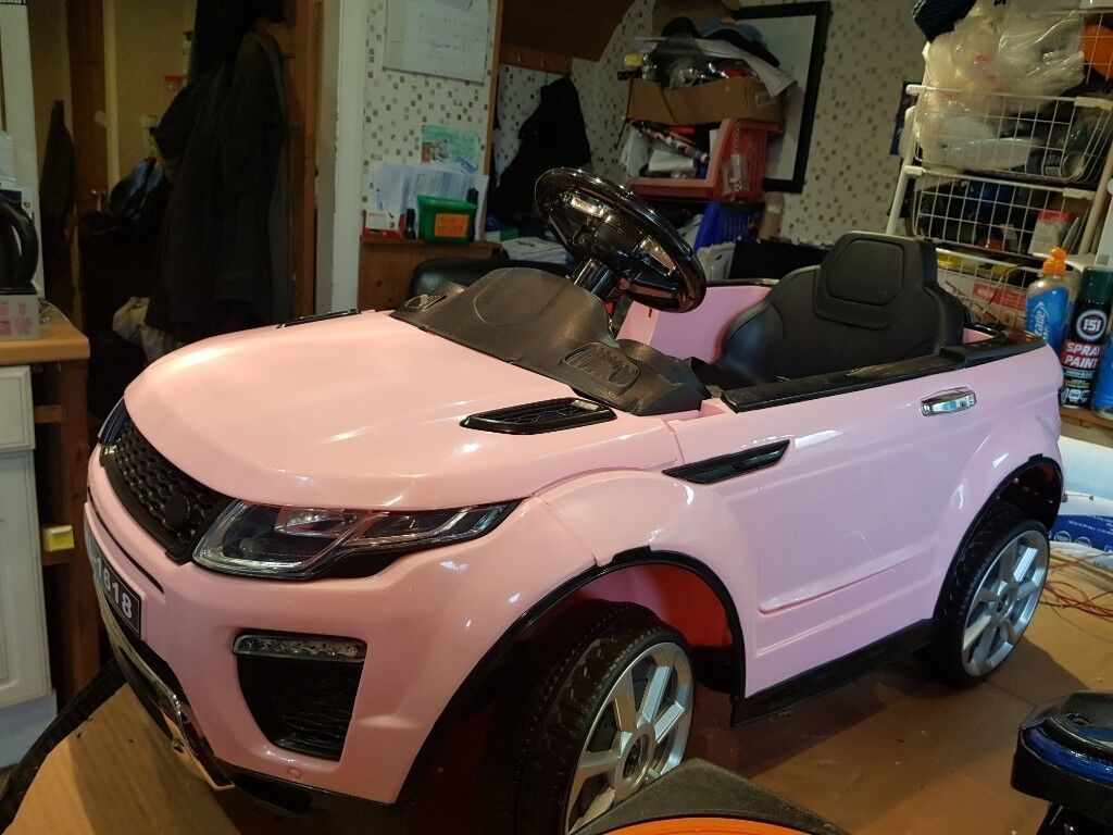 67e8eefc3f0 Electric ride on Range Rover Evoque in pink (12 volt) with remote