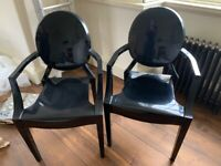 Two dining Chairs by Kartel - Louis Ghost by Philippe Starck