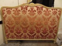 Rococo style upholstered bed frame