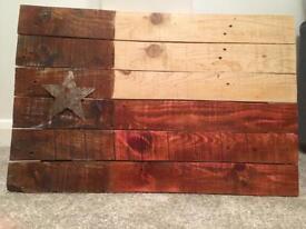 Texas flag pallet wood