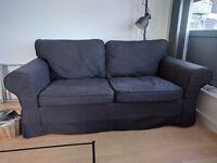 Ikea EKTORP Two Seater Sofa Comfortable Good Condition With Fully Removeable Machine Washable Covers