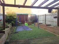 Garden Swing Set - prebuilt, unused, ready to go
