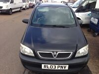Cheap Vauxhall zafira sale 2.0 sport taxed and MOT, new pipes minor scratches and dents as pictured