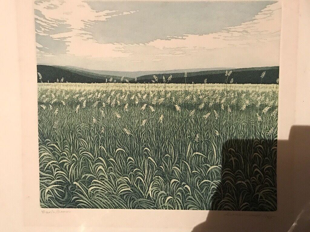 2 PHIL greenwood original etching painting